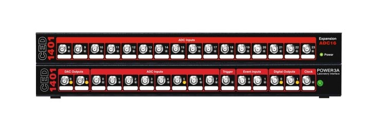 CED 4001-3  Top-Box, ADC16: sets of 16 more waveform inputs