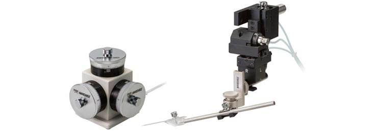 Narishige  MMO-203  Three-axes Oil Hydraulic micromanipulator
